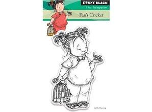 Penny Black Transparent stamp: Fan's cricket