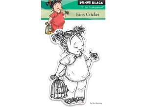 Penny Black Transparent stempel: Fan cricket