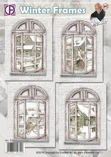 BASTELSETS / CRAFT KITS: 4 Fenster Karten