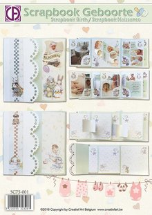 BASTELSETS / CRAFT KITS: Scrapbook Geburt / Taufe