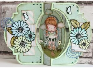 Dutch DooBaDoo A4 Schablone: Card Art Swing card