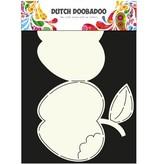 Dutch DooBaDoo A4 Skabelon: korttype æble
