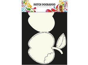 Dutch DooBaDoo A4 Template: Card type apple