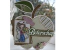 Dutch DooBaDoo A4 Template: Card type apple