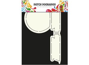 Dutch DooBaDoo A4 Skabelon: Kort Type Snowglobe