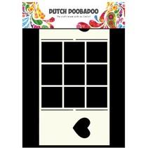 A4 Schablone: Card Art Fenster Karte