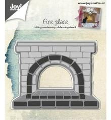 Joy!Crafts und JM Creation Stansning og prægning skabeloner: Fireplace
