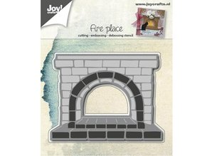 Joy!Crafts und JM Creation Stansning og prægning skabeloner: Fireplace