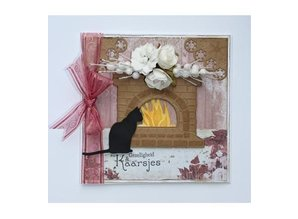 Joy!Crafts und JM Creation Punching and embossing templates: Fireplace