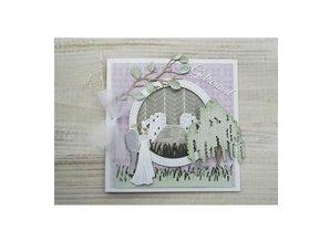 Marianne Design Stansning og prægning skabelon: Weeping Willow