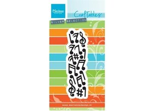 Marianne Design Stamping and embossing folder: music