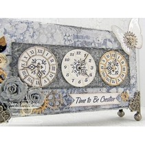Punching and embossing template: Timepieces