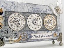 Die-namics Troquelado y estampado en relieve plantilla: Relojes