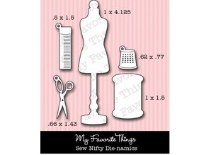 Die-namics Punching and embossing template: sewing accessories