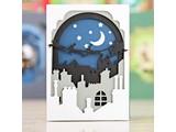 X-Cut / Docrafts Stanz- und Prägeschablone: Shadow Box Die (8pcs) - Santa in the Sky