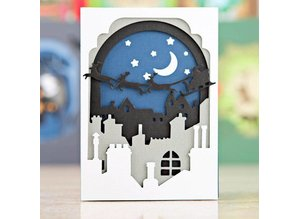 X-Cut / Docrafts Punching and embossing template: Shadow Box The (8pcs) - Santa in the Sky