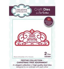 Creative Expressions NEW: punching and embossing template: decorative border, Christmas