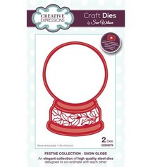 Creative Expressions NEW: punching and embossing template: snow globe