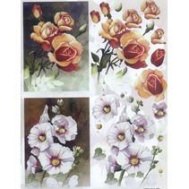 3D Die cut sheets: Flowers