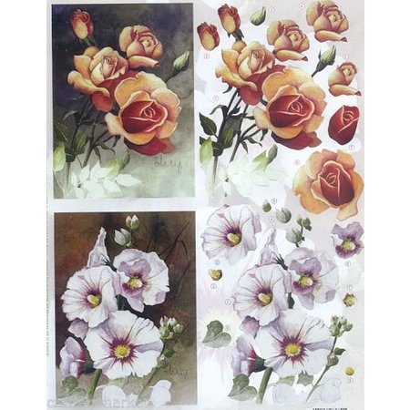 BILDER / PICTURES: Studio Light, Staf Wesenbeek, Willem Haenraets 3D Die cut sheets: Flowers