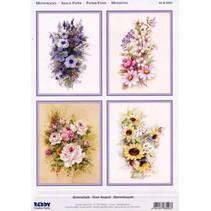 3D Die vellen + 1 vel achtergrond: Flowers
