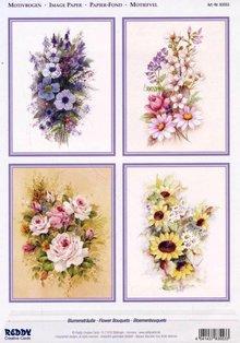 BILDER / PICTURES: Studio Light, Staf Wesenbeek, Willem Haenraets 3D Stanzbogen + 1 Hintergrundbogen : Blumen