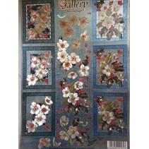 hojas de corte con troquel en 3D de aspecto metálico: Flores