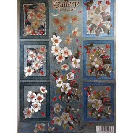 BILDER / PICTURES: Studio Light, Staf Wesenbeek, Willem Haenraets 3D Stanzbogen Metallic LOOK : Blumen
