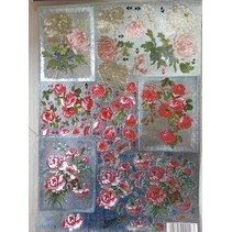 3D Die losse vellen metallic look: Flowers