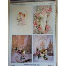 3D Die vellen + 1 achtergrond bladen: Wedding