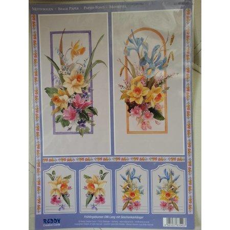 BILDER / PICTURES: Studio Light, Staf Wesenbeek, Willem Haenraets 3D fondo hojas de corte con troquel + 1 hoja: flores con etiqueta de regalo