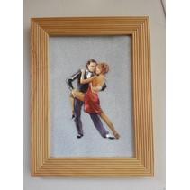 3D Stanzbogen Metallic LOOK : Tanzpaare