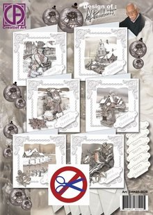 BASTELSETS / CRAFT KITS: Complete Card Set for 6 great Winter Cards
