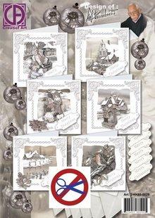 BASTELSETS / CRAFT KITS: Komplet Card Sæt til 6 store Winter Cards