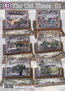 BASTELSETS / CRAFT KITS: Card Set completo per 6 grandi uomini Cards!