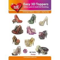 10 forskellige 3D-design, tema: mode, sko