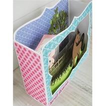 Stansning og prægning skabelon: BOX-kort
