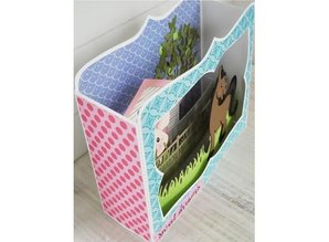 Marianne Design Punching and embossing template: BOX card
