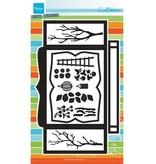 Marianne Design Troquelado y estampado en relieve plantilla: tarjeta de la caja