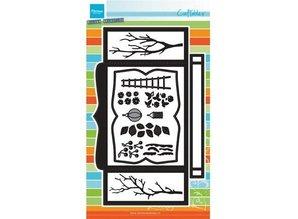 Marianne Design Stansning og prægning skabelon: BOX-kort