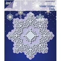 Stansning og prægning skabeloner: Winter Wishes Doilie