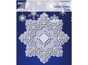 Joy!Crafts und JM Creation Stansning og prægning skabeloner: Winter Wishes Doilie