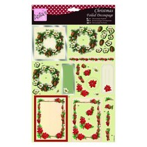 Exclusive 3D Die cut sheets with silver effect, Christmas Theme