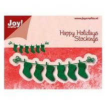 Stanz- und Prägeschablonen: line mit Weihnachtssokken