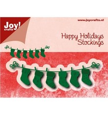 Joy!Crafts und JM Creation Punching and embossing templates: line with Weihnachtssokken