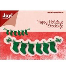 Joy!Crafts und JM Creation Stansning og prægning skabeloner: linjer med Weihnachtssokken