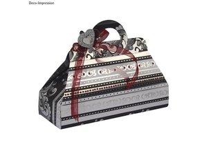 Dekoration Schachtel Gestalten / Boxe ... Skabelon, kufferter, 17,5x21,3 cm