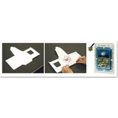 BASTELZUBEHÖR / CRAFT ACCESSORIES Led lampe + 1 LED kort format A6 + kuvert