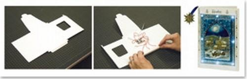 bastelzubeh r craft accessories led l mpchen 1 led karte format a6 umschlag kasse ist. Black Bedroom Furniture Sets. Home Design Ideas