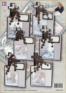 BASTELSETS / CRAFT KITS: Complete set for 6 condolence cards